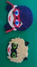 Ръчно изработени фигурки-калинката и черния котарак