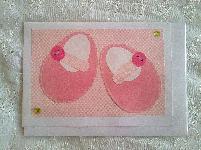 Ръчно изработени картички за бебета