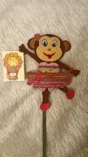 Ръчно изработени маймуни от филц-27 см.