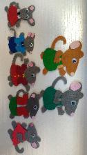 Ръчно изработени мишки (плъхове) от филц