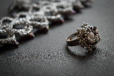Ръчно плетена гривна, обеци и пръстен - Royalty