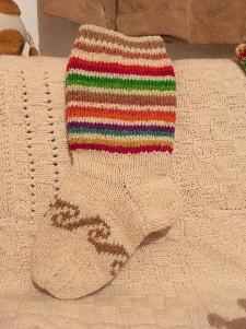 Ръчно плетени вълнени чорапи