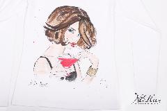 """ръчно рисувана дамска тениска - """"Cocktail"""""""