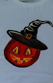 Ръчно рисувана тениска Хелоуин
