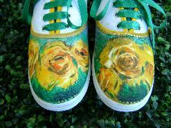 """Ръчно рисувани кецове""""Жълти цветя"""""""