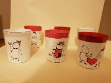 Ръчно рисувани свещници за св.Валентин