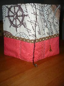 Ръчноизработена текстилна подвързия за книга