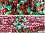 Ръчноизработенивълнени мартеници с цветенце от фимо