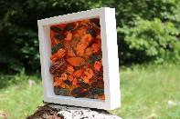 Рамка с акрилни бои и сухи цветя