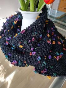 """""""Разцъфтял"""" голям плетен шал"""