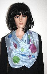 Рисуван шал, 100% натурална коприна