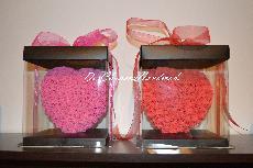 Сърце от рози в кутия