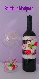 Шампанско и ритуални чаши с декорация Mariposa