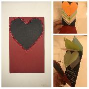 Слайд картичка Сърца