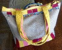 Слънчева лятна бохо чанта