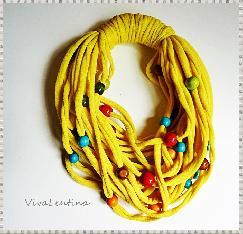 Спагети шал Бонбони в жълто