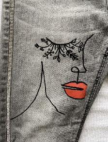 Страхотни ръчно рисувани дънки