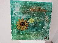 sunflower abstract painting