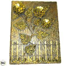 """Сувенир - Пано декорация за стена """"Вълшебни цветя"""" - 40 см. Модел DM-9029"""