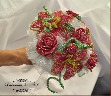 Сватбен букет от мъниста