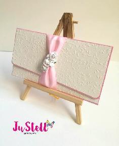 Сватбен плик за пари с таз за пожелание Рози