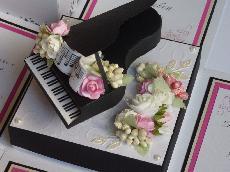 """Сватбена картичка """" Мелодия на сърцето"""""""
