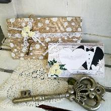 Сватбена картичка и луксозен плик за пари