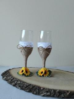 Сватбени чаши слънчоглед