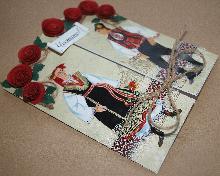 Сватбени Картички ръчна изработка с народни мотиви