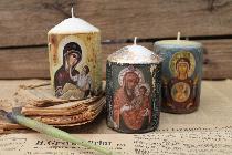 Свещи със светци за всякакви поводи