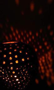 свещник от кокос
