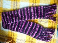 Топъл шал - ръчно плетен