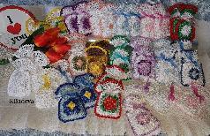 Торбички цветни, разноцветни с пълнеж от уханна лавандула