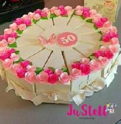 Торта от картон Рози