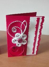 Уникални ръчно изработени картички цвят бордо винено червено, квилинг 3Д