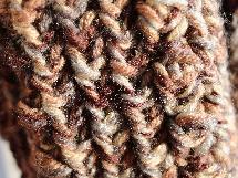 Унисекс,ръчно плетен шал в меланж