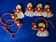 Вълнени мартеници с цветенце
