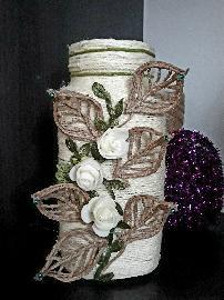 Ваза,декорирана с канап