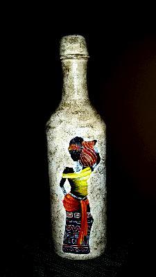 Ръчно рисувана бутилка